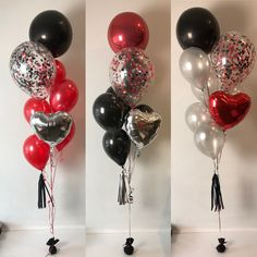 Ideas For Birthday Balloons Ideas Red birthday 612630355543081452 Silver Party Decorations, Ballon Decorations, Birthday Party Decorations, Red Birthday Party, Birthday Balloons, Birthday Ideas, Black Balloons, Red Balloon, Balloon Ideas