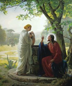 """While traveling through Samaria, the Savior http://facebook.com/pages/The-Lord-Jesus-Christ/173301249409767 teaches a woman at Jacob's Well that He is the """"living water."""" http://youtu.be/zF7ma1yoLNk; http://lds.org/scriptures/nt/john/4.5-29?lang=eng#4 """"Jesus… said unto her, Whosoever drinketh of the water that I shall give him shall never thirst; [for this] water… shall be in him a well of water springing up into everlasting life"""" (John 4:14)."""
