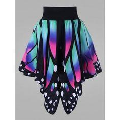 Plus Size Nagy derekú szoknya pillangó alakú