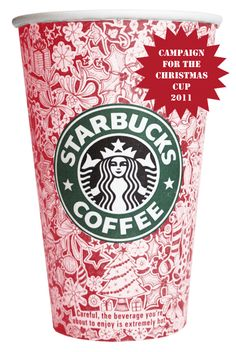 Johanna Basford's Campaign for the Christmas Cup 2011 at Starbucks!  She wants to design the 2011 Christmas cup. Check her website for the letter to the Starbucks UK MD Darcy Wildon-Rymer  http://www.johannabasford.com/blog-article/248