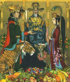 Trina Schart Hyman. Illustrations for Children of the Dragon