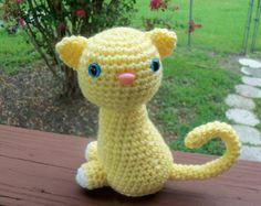Kitty Doll  Light Lemon Yellow Sitting Pretty by BeyondCrochet, $15.00