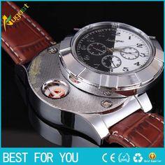 50pcs/lot watch lighter Windproof Cigar Lighter USB Lighter watch Charging sports casual quartz Watches wristwatches usb lighter