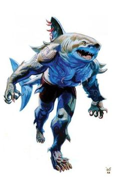 wereshark at 5 custo 4 rar comun Fantasy Creatures, Mythical Creatures, Sea Creatures, Shark Man, Fantasy Races, World Of Darkness, Creature Concept, Monster Art, Dnd Monsters