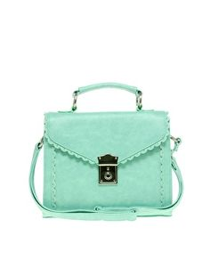 This aqua top handle bag is only $ 36