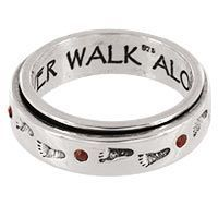 Diabetes Awareness Sterling & Crystal Spinning Ring at The Child Health Site i want this