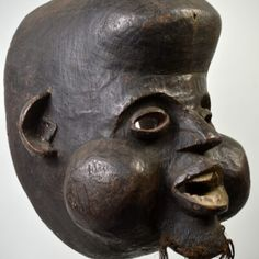 Nkoh Earth Pigments, Mary Sue, The Orator, Male Figure, Sierra Leone, Clay Beads, African, Carving, Fine Art