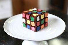 Rubiks Cube Brownie Bites!