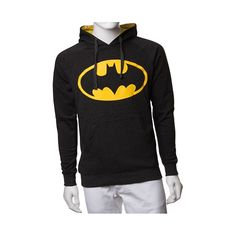 Shop for Mens Batman Logo Hoodie, Black, at Journeys Shoes. Represent your favorite superhero in style! The Caped Crusaders shield adorns the front of the new Batman Logo Hoodie along with a kangaroo front pocket, and yellow fabric lined hood.