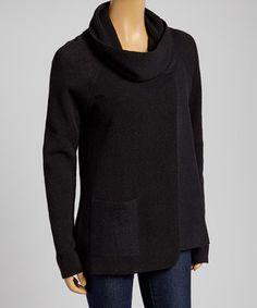 Loving this Black Alpaca-Wool Blend Pullover on #zulily! #zulilyfinds