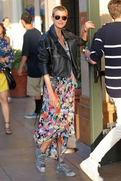 @roressclothes closet ideas #women fashion outfit #clothing style apparel colorful skirt black jacket