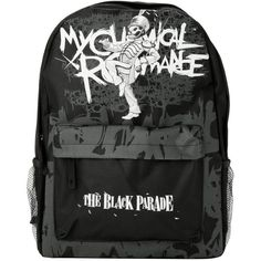 Amazon.com: My Chemical Romance The Black Parade Backpack: Clothing ($35) ❤ liked on Polyvore featuring bags, backpacks, day pack backpack, rucksack bag, knapsack bags and backpacks bags