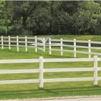 Veranda 1-3/4 in. x 5-1/4 in. x 8 ft. Vinyl Ranch Fence Rail 73061401S at The Home Depot - Mobile