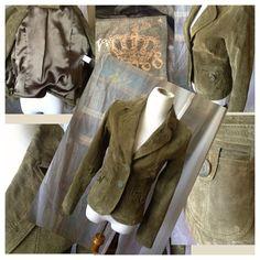 Hpvintage Sage Suede Jacket By Neu Look Size 8