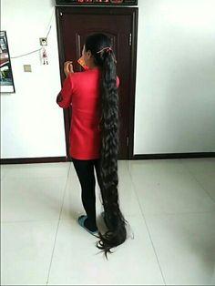 Cut My Hair, Your Hair, Hair Cuts, Really Long Hair, Super Long Hair, Ponytail Updo, Rapunzel Hair, Thick Hair, Down Hairstyles