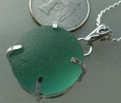HL Sea Glass & Beach Glass Jewelry, beautiful English turquoise sea glass necklace!