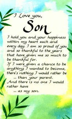 I Love you Son