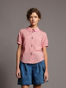 Image of Short Sleeve Gingham Shirt- was £120 -