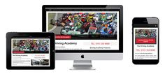 Simplepage website for The Driving Academy, Wirral. All lovingly produced at Broadstone MIll in Stockport. #simplepage #webdesign