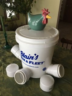 """WINTER CHICKEN FEEDER, Swans, Geese, Ducks, Large Birds, 3"""" Monster Openings, White, Easy Clean, No Mess, Great With Waterer"""