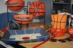 Cut a basketball in half to use as serving bowls