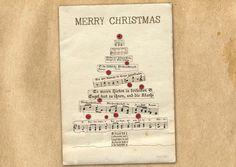 Carte de Noël de joyeux Noël par TikiOno sur Etsy https://www.etsy.com/fr/listing/482950817/carte-de-noel-de-joyeux-noel