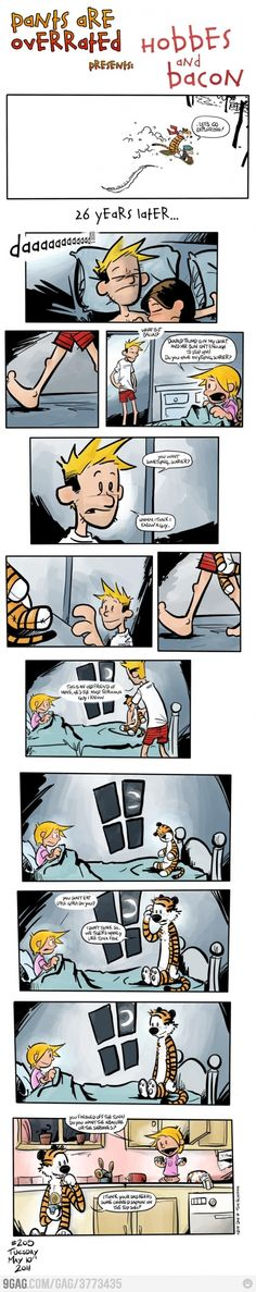 Oh please let this be real. I grew up with Calvin and Hobbes, its nice to think they grew up with me too.