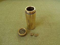 Trench Art  WW1 Dice Shaker 1918 Notgeld Coin 10 Stadt Duren Shell case