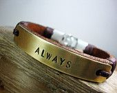 FREE SHIPPING - Men's Personalized Bracelet, Men Bracelet, Men's Bracelet. Men Bracelet. Men Gift. Brass plate Personalized Men Bracelet