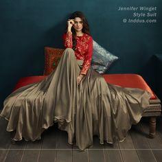 VJV Fashions presenting Jennifer Winget Grey Color Silk Designer Anarkali Suit shop from our biggest collection of designer salwar suit, party wear salwar Bollywood Outfits, Bollywood Dress, Bollywood Fashion, Red Lehenga, Lehenga Choli, Anarkali, Lovely Dresses, Trendy Dresses, Indian Dresses