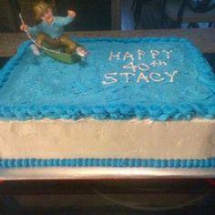 Fishing Birthday Cak