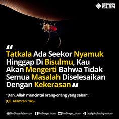 tatkala ada seekor lalat nyamuk hinggap di bisulmu kau akan mengerti bahwa tidak semua masalah diselesaikan dengan kekerasan Allah Quotes, Muslim Quotes, Quran Quotes, Islamic Quotes, Quotes Lucu, Jokes Quotes, Funny Quotes, Qoutes, Reminder Quotes