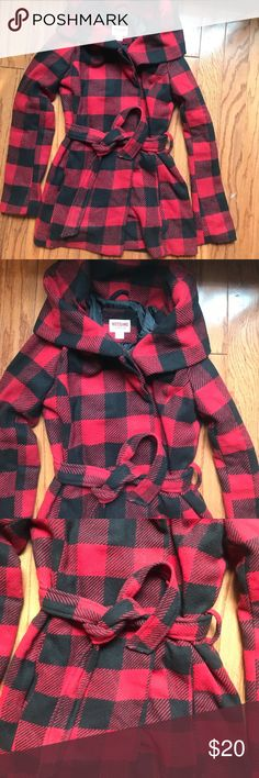 Mossimo Buffalo Plaid Hooded Coat Checkered Plaid coat. Very warm. Removed tags but never worn. Mossimo Supply Co. Jackets & Coats