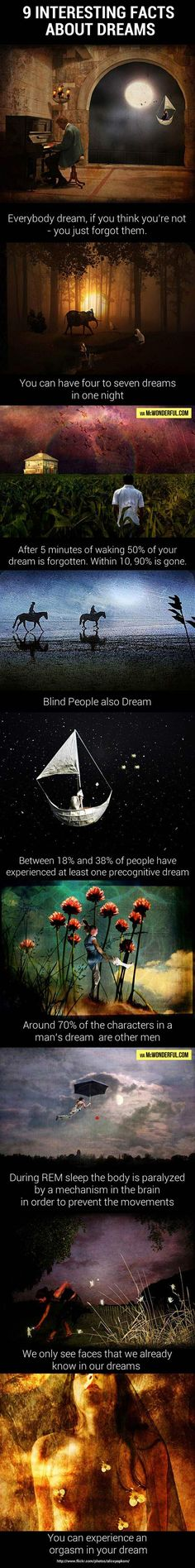 9 interesting facts about dreams…