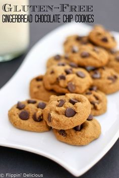 Soft and Chewy Gluten-Free Gingerbread Chocolate Chip Cookies