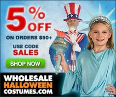 #holidays  #Halloween coupons discounts savings clearance specials blowouts New for 2013  http://www.planetgoldilocks.com/halloween/coupons.html  5% off on all orders over 50 - Use code SALE5Ends 07/31  #Free Shipping on orders over 75 - Use #coupon SUMMER75Ends 07/31
