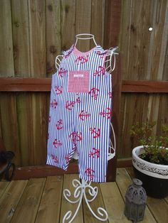 Nautical Summer Dungarees Rompers age 0-6 months £9.00