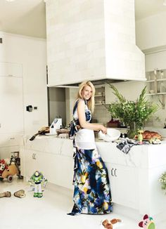 Cozinha #MARMORE BRANCO #PIGHES em cobertura Gwyneth Paltrow  #CozinhaMarmore #MarmoreBranco #MarmorePighes #CozinhaPighes