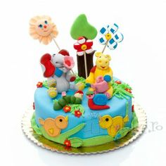 Animalute vesele din martipan dulce Birthday Cake, Desserts, Food, Tailgate Desserts, Deserts, Birthday Cakes, Essen, Postres, Meals