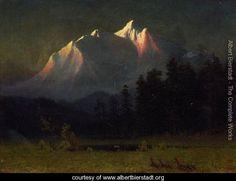 Western Landscape - Albert Bierstadt - www.albertbierstadt.org