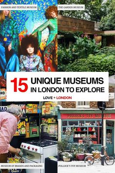 The coolest and most interesting museums to visit in London. Great for London tourists who want to go off the beaten path! Leighton House Museum, Cartoon Museum, North Garden, London Tips, Textile Museum, British Garden, Free Museums, Heritage Center, London Museums