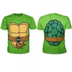 TMNT Teenage Mutant Ninja Turtles Costume Shell Adult MEN'S Green TEE T Shirt | eBay