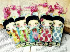 The Fairies Of Spring  Five 5 Piece Set Of Plastified by DanitaArt, $15.00