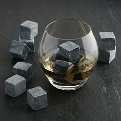 An innovative chilling option for the whisky connoisseur. Soapstone beverage cubes keep drinks cool without watering them down, prolonging appreciation of the nuanced flavors of fine spirits. To enjoy undiluted sipping, place cubes in the freezer for a few hours and then drop them in your glass. May also be heated to keep warm drinks heated. Non-porous soapstone won't absorb odors or flavors and won't scratch glassware.