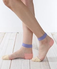 Tabio of (Tabio) [new product] Tulle 3 plane switching colorful socks (socks) | detail image