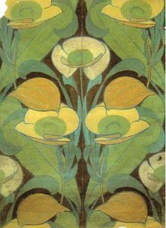 Archibald Knox (1864-1933) - Carpet Design. Watercolour on Paper. Circa 1900.