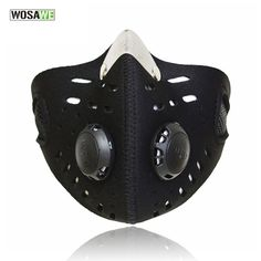WOSAWE Activated Carbon Anti-Dust Running Cycling Mask Bicycle Face Mask Outdoor Windproof Mask BE107