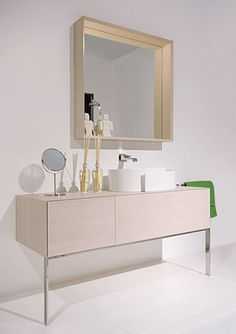 Discover all the information about the product Free-standing washbasin cabinet / wooden / contemporary / with drawers COMPONO SYSTEM: by Cappellini & Talarico - FLAMINIA and find where you can buy it. Wash Basin Cabinet, Bubble Bath, Modern, Contemporary, Bathroom Inspiration, Drawers, New Homes, Basins, Ceramics
