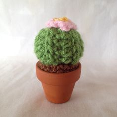 Crocheted cacti are the only plants that won't die, no matter how long you forget to water them. Buy this tiny cactus here! https://www.etsy.com/listing/270393829/tiny-crocheted-cactus-friend?ref=related_listings #pastelteaparty #cactus #etsy #cute #crochet #amigurumi #cacti #kawaii #etsystore #tiny #desert #green #pink