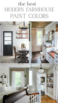 A cozy collection of paint colors for a beautiful feel in your home. Tried and true colors - I'm sharing all the details about all of them! Modern Farmhouse Decor, Farmhouse Kitchen Decor, Farmhouse Style Decorating, Home Decor Kitchen, Decorating Your Home, White Farmhouse, Kitchen Interior, Joanna Gaines, Norman